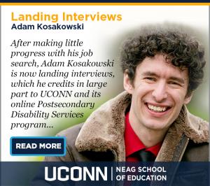 Postsecondary Disability Services - Student Testimonial - Adam Kosakowski